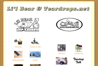 Lil Bear and Teardrop Website