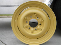 Teardrop Fix-it-Shop Yellow Wheels.
