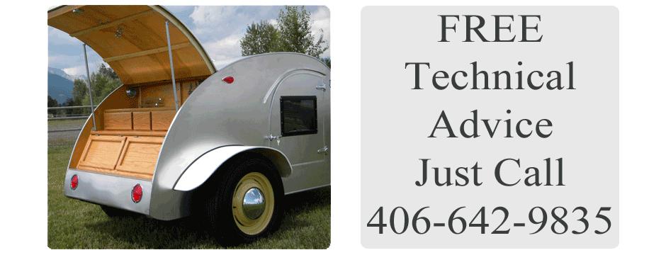 Teardrop Fix-It-Shop | Teardrop Trailer Parts & Kits | Victor, Montana